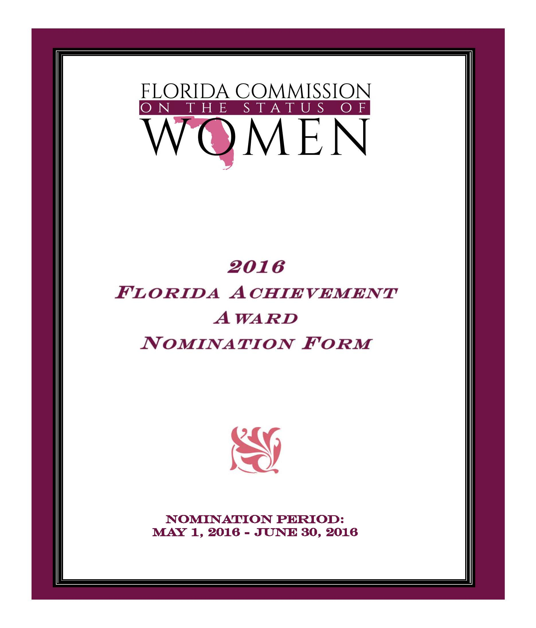 Florida commission on the status of women fcsw florida if you have any questions regarding the florida achievement award please contact the commission office at 850 414 3300 thank you in advance for your xflitez Image collections